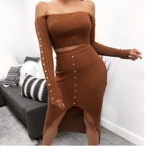 Large Left! Don't Rush Me Skirt Set